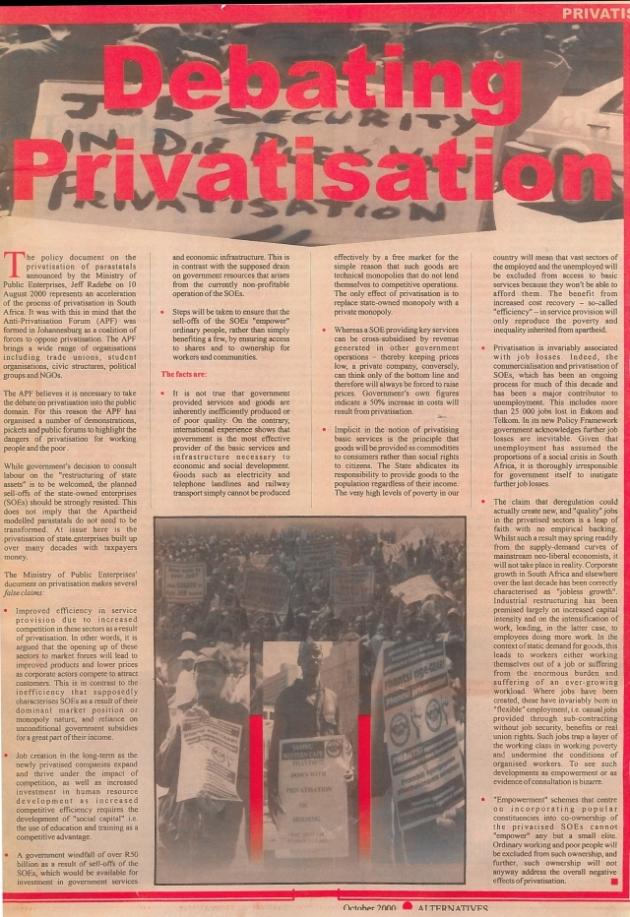 Debating Privatisation ICON