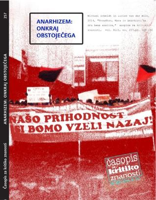 CROP COVER van der Walt, Schmidt - Proudhon, Marx in anarhisticna družbena analiza